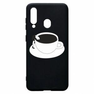 Phone case for Samsung A60 Drown in coffee - PrintSalon