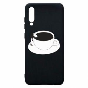 Phone case for Samsung A70 Drown in coffee - PrintSalon