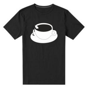 Men's premium t-shirt Drown in coffee - PrintSalon