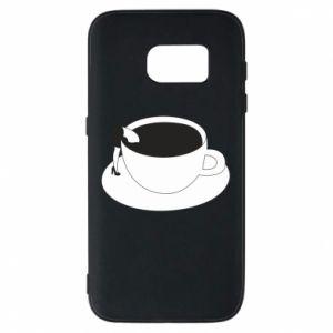 Phone case for Samsung S7 Drown in coffee - PrintSalon