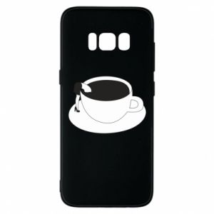 Phone case for Samsung S8 Drown in coffee - PrintSalon