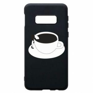 Phone case for Samsung S10e Drown in coffee - PrintSalon