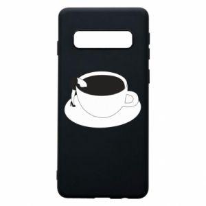 Phone case for Samsung S10 Drown in coffee - PrintSalon