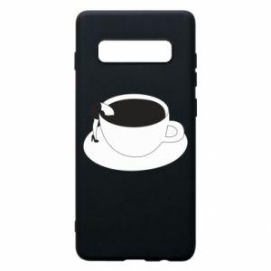 Phone case for Samsung S10+ Drown in coffee - PrintSalon