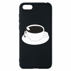 Phone case for Huawei Y5 2018 Drown in coffee - PrintSalon