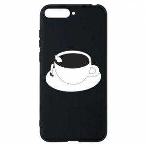 Phone case for Huawei Y6 2018 Drown in coffee - PrintSalon