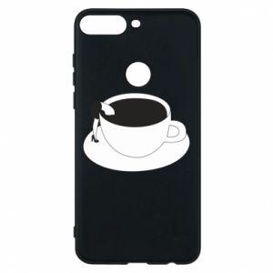 Phone case for Huawei Y7 Prime 2018 Drown in coffee - PrintSalon