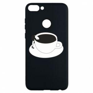 Phone case for Huawei P Smart Drown in coffee - PrintSalon