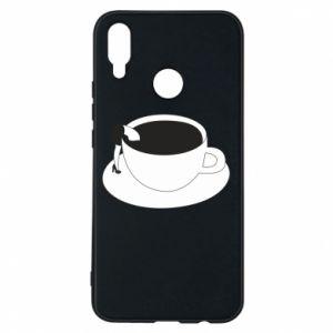 Phone case for Huawei P Smart Plus Drown in coffee - PrintSalon
