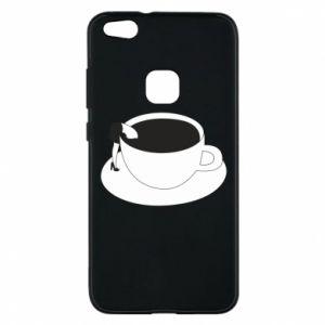 Phone case for Huawei P10 Lite Drown in coffee - PrintSalon