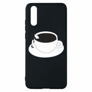 Phone case for Huawei P20 Drown in coffee - PrintSalon
