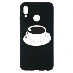 Phone case for Huawei P20 Lite Drown in coffee - PrintSalon