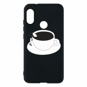 Phone case for Mi A2 Lite Drown in coffee - PrintSalon