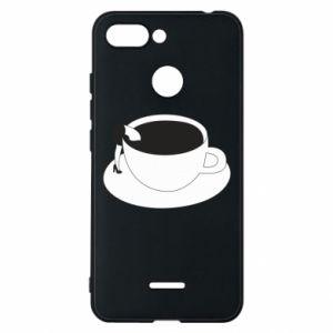 Phone case for Xiaomi Redmi 6 Drown in coffee - PrintSalon
