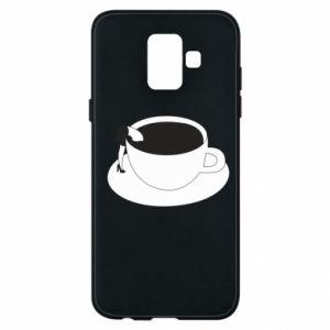 Phone case for Samsung A6 2018 Drown in coffee - PrintSalon