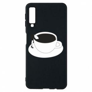 Phone case for Samsung A7 2018 Drown in coffee - PrintSalon