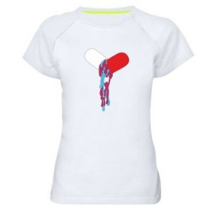 Damska koszulka sportowa Drug pill