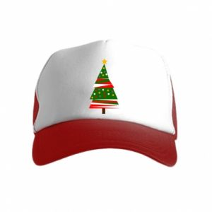 Kid's Trucker Hat New Year tree decorated