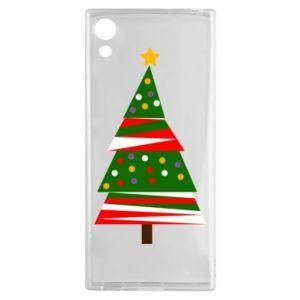 Etui na Sony Xperia XA1 Drzewo noworoczne ozdobione