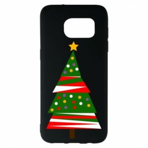 Samsung S7 EDGE Case New Year tree decorated