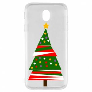 Samsung J7 2017 Case New Year tree decorated