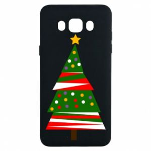 Samsung J7 2016 Case New Year tree decorated