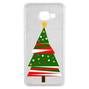 Samsung A3 2016 Case New Year tree decorated
