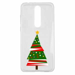 Nokia 5.1 Plus Case New Year tree decorated