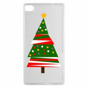 Huawei P8 Case New Year tree decorated