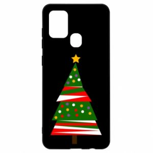 Samsung A21s Case New Year tree decorated