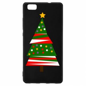 Huawei P8 Lite Case New Year tree decorated