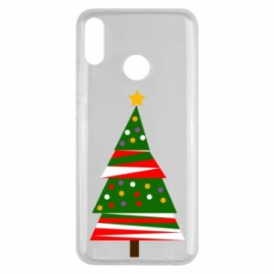 Huawei Y9 2019 Case New Year tree decorated