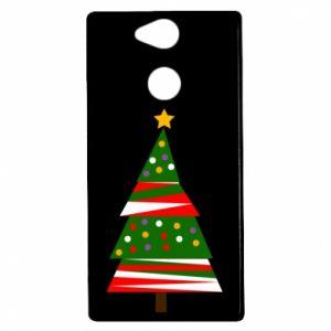 Etui na Sony Xperia XA2 Drzewo noworoczne ozdobione