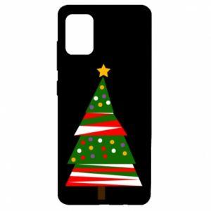 Etui na Samsung A51 Drzewo noworoczne ozdobione