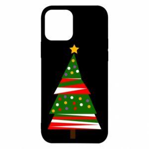Etui na iPhone 12/12 Pro Drzewo noworoczne ozdobione