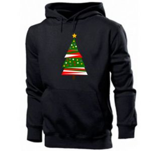 Men's hoodie New Year tree decorated