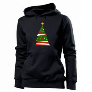 Women's hoodies New Year tree decorated
