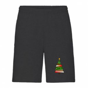 Men's shorts New Year tree decorated