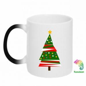 Kubek-magiczny Drzewo noworoczne ozdobione
