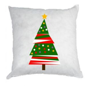 Pillow New Year tree decorated