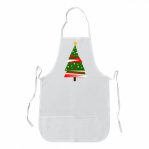 Apron New Year tree decorated