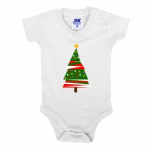 Baby bodysuit New Year tree decorated