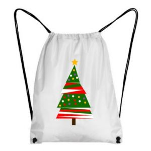 Backpack-bag New Year tree decorated