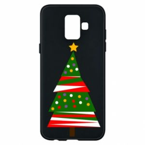 Samsung A6 2018 Case New Year tree decorated
