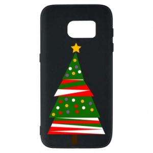 Samsung S7 Case New Year tree decorated