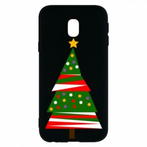 Samsung J3 2017 Case New Year tree decorated