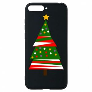 Huawei Y6 2018 Case New Year tree decorated