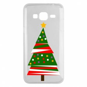 Samsung J3 2016 Case New Year tree decorated