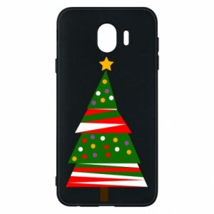 Samsung J4 Case New Year tree decorated