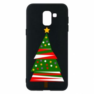 Samsung J6 Case New Year tree decorated